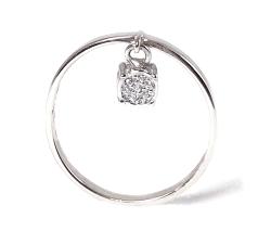 Anillo oro blanco 750 mm diamantes