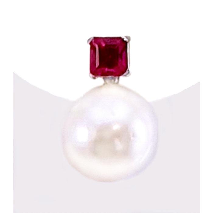 Pendientes oro 18 kt nano color perla