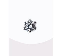 Pendientes oro blanco 750 mm diamantes.