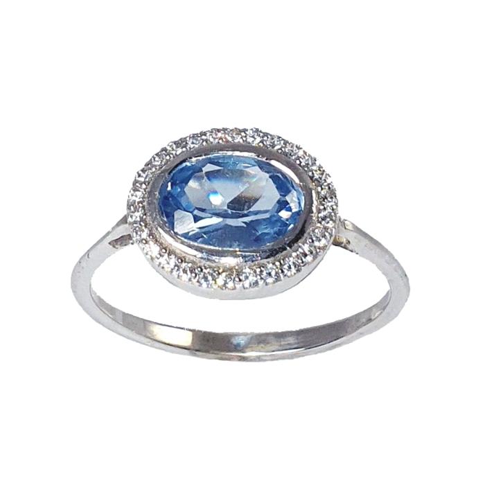 Anillo oro 18 kt diamantes