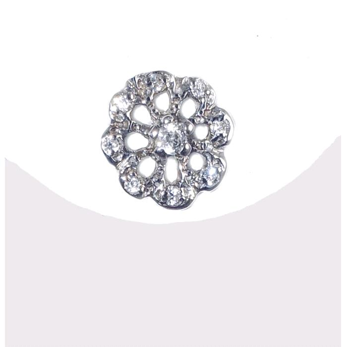 Pendientes rosetón oro 18 kt diamantes