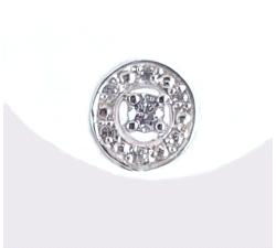 Pendientes oro blanco 750 mm circonitas.