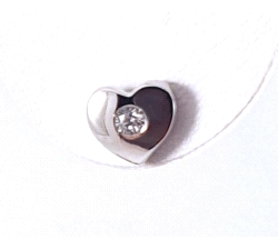 Pendientes oro blanco 750 mm diamantes