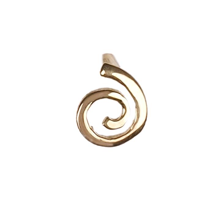 Pendientes espiral oro 18 kt