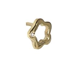 Pendientes oro amarillo 750 mm diamantes