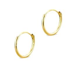 Pendientes oro amarillo 750 mm
