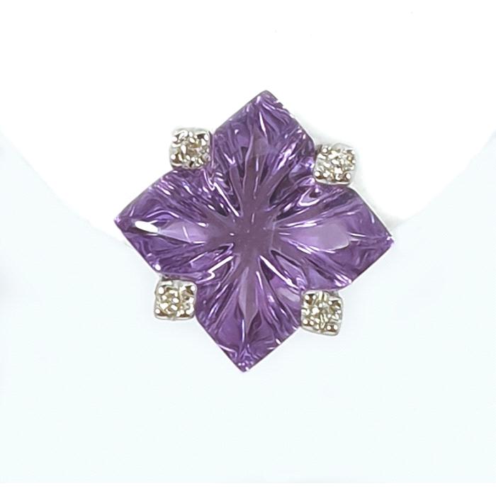 Pendientes flor lily oro 18 kt diamantes