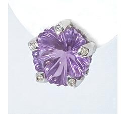 Pendientes flor oro 18 kt diamantes